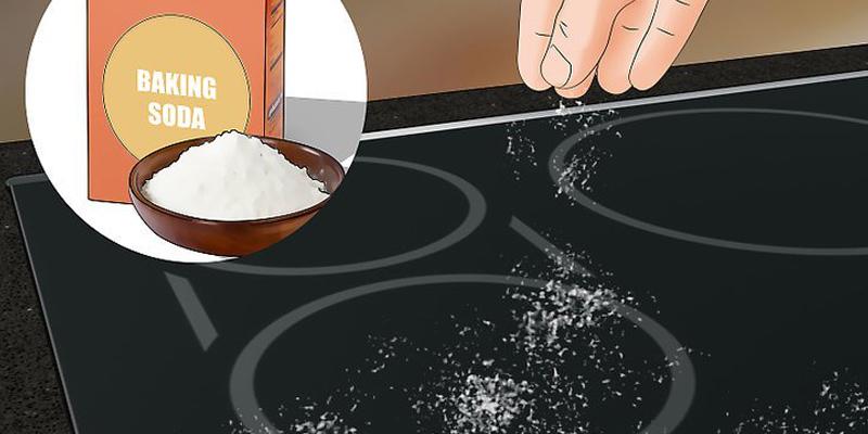 تمیز کردن اجاق گاز با نمک و جوش شیرین