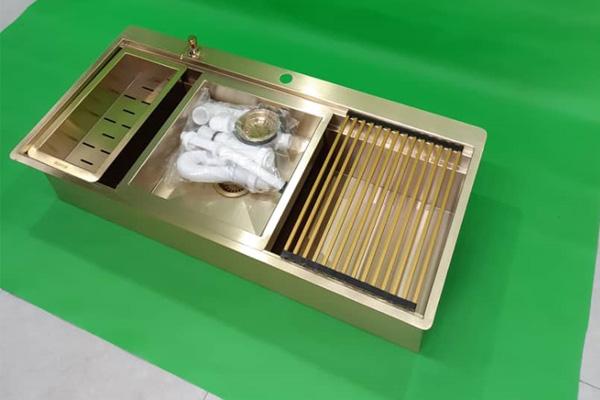 سینک ظرفشویی طلایی